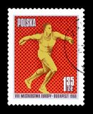 Sport on postage stamps royalty free stock image
