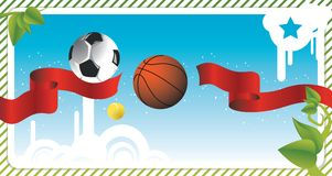 Sport postcard Stock Images