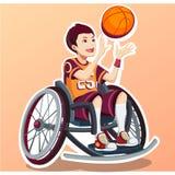 Sport pour des enfants avec l'activité handicapée illustration libre de droits