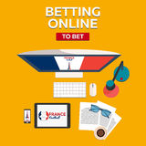 Sport predictions. Betting online. Football online. France. Stock Photography