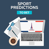 Sport predictions. Betting online. Football online. France. Royalty Free Stock Photo