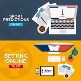 Sport predictions. Betting online. Football online. France. Royalty Free Stock Photos