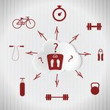 Sport quest. Adherence to a healthy lifestyle Stock Images