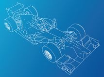 Sport race car. Abstract drawing. Tracing illustration of 3d. Sport race car. Abstract drawing. Tracing illustration of 3d Royalty Free Stock Photography