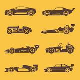 Sport race car black vector icons Stock Image