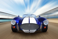 Sport race car. On speed track - motion blur Stock Image