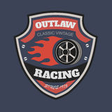 Sport racing typography, t-shirt graphics, vectors Royalty Free Stock Photos