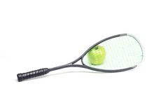 Sport racket on white background Royalty Free Stock Image