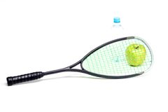 Sport racket on white background Stock Images