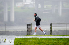 Sport in the rain Stock Images