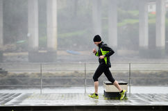 Sport in the rain Stock Image