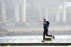 Sport in the rain Royalty Free Stock Images