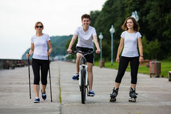 Sport and recreation - people working out Royalty Free Stock Images