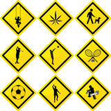 Sport and recreation signs Stock Photography