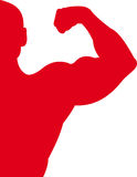 Sport Red. Red silhouette of the sportsman stock illustration