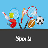 Sport related icons. Colorful design. vector illustration Stock Images