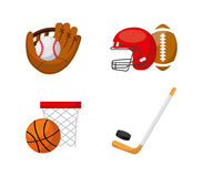 Sport related icons. Over white background. colorful design. vector illustration Royalty Free Stock Images