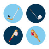 Sport related icons. Over white background. vector illustration Stock Photos