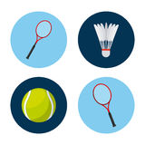 Sport related icons. Over white background. vector illustration Stock Photo