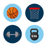 Sport related icons. Over white background. vector illustration Royalty Free Stock Image