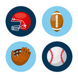 Sport related icons. Over white background. vector illustration Royalty Free Stock Photography