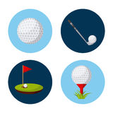 Sport related icons. Over white background. vector illustration Royalty Free Stock Photos