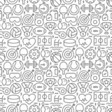 Sport related seamless pattern.