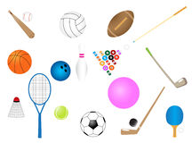 Sport requisites stock photos