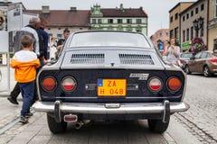 Sport 850, retro automobile di Fiat di progettazione Mostra delle automobili d'annata Fotografia Stock