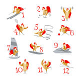 Sport roosters and hens Royalty Free Stock Image