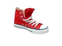 sport rouge de chaussure Image stock