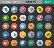 Sport rounded flat icons Stock Image