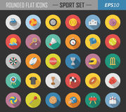 Sport rounded flat icons Stock Photos