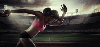 Sport. Runner royalty free stock images
