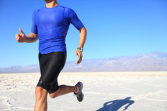 Sport - runner running in desert Stock Photography