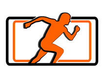 Sport running man logo Royalty Free Stock Photography