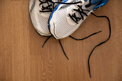 Sport: running shoes. Sport: detail photo of two running shoes Stock Photo