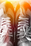 Sport running shoes. With sun shine Stock Photo