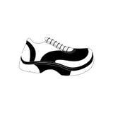 Sport running sneaker. Icon  illustration graphic design Stock Photography
