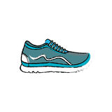 Sport running sneaker. Icon  illustration graphic design Stock Photo