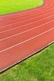Sport running track Stock Photos