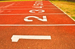 Sport running track Royalty Free Stock Photo