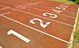 Sport running track Royalty Free Stock Photos