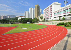 Sport running track in stadium Royalty Free Stock Images