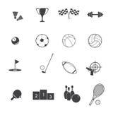 Sport rzeczy ikony wektor ilustracji