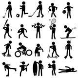 Sport Schattenbilder Lizenzfreies Stockbild
