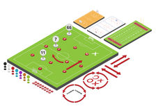 Sport schemes. With fields. Vector illustration Stock Image