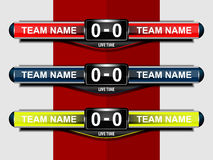 Sport scoreboard template Stock Photo