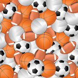 Sport seamless pattern Royalty Free Stock Photos