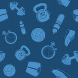 Sport seamless pattern. Royalty Free Stock Image